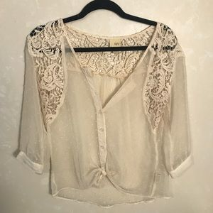 Sheer button down blouse from Buckle